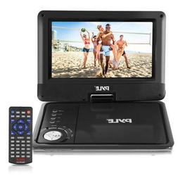 Pyle PDV905BK 9'' Portable DVD Player, Rechargeable Batt
