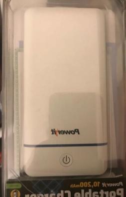 Impecca PEB10200W 10,200mAh Portable Charger with Dual USB O