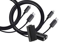AmazonBasics Play and Charge Kit with Braided Cable for Xbox