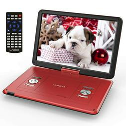 "Portable 15.6""DVD/CD Player HD Widescreen Reader Built-in Re"