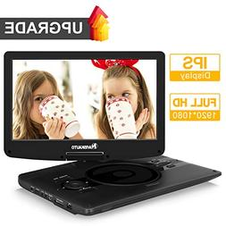 """1920x1080 Full HD Portable DVD Player with 12.5"""" IPS Screen"""