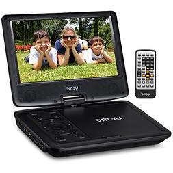 "UEME 9"" Portable DVD CD Player Includes Car Headrest Mount H"