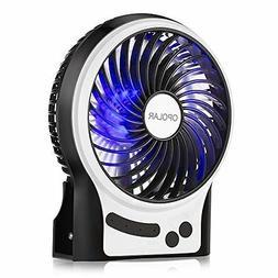 OPOLAR Portable Rechargeable Fan, Mini USB Fan with Upgraded