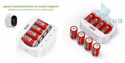 EBL RCR123A Rechargeable Batteries 3.7V  750mAh and Battery.