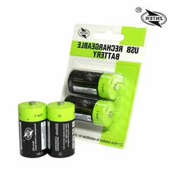 Rechargeable 1.5V C Size 3000mAh Li-Po Battery 5V USB Chargi