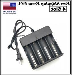 Rechargeable 18650 Battery Cell 3.7V Li-Ion with Charger for