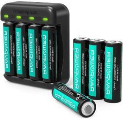 Rechargeable AA Batteries 8 Pack 2600mAh High Capacity Ni MH
