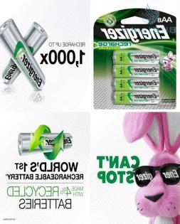 Energizer Rechargeable AA Batteries, NiMH, 2000 mAh, Pre-Cha