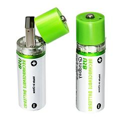 Grindbay Rechargeable AA Battery, R6 Chargeable Integrated U