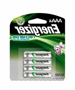 Energizer Rechargeable AAA Batteries, NiMH, 800 mAh, Pre-Cha