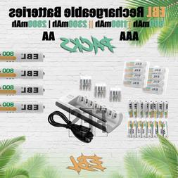 EBL Rechargeable Batteries AA/AAA 800mAh 1100mAh 2300mAh 280