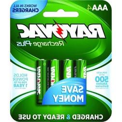 Rayovac Rechargeable Batteries Size Aaa 750 Mah Nimh Carded