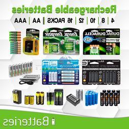Rechargeable Battery 4/8/16 AA AAA Energizer Duracell Eneloo