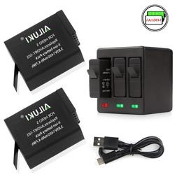 Ailuki Rechargeable Battery 1490MAH 2 Pack and 3-Channel Cha