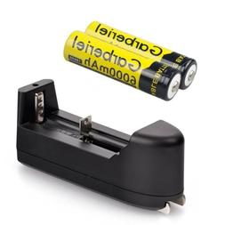 2X 18650 Rechargeable BRC 3.7V Li-ion Battery 5000mah Cell +