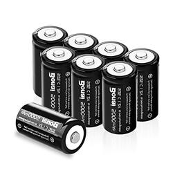 BONAI Rechargeable C Batteries 5,000mAh 1.2V Ni-MH High Capa