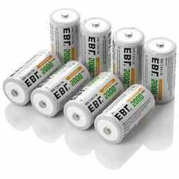 EBL Rechargeable C Batteries 5000mAh Ni-MH Size Battery, Pac