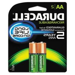Duracell Rechargeable NiMH Batteries with Duralock Power Pre