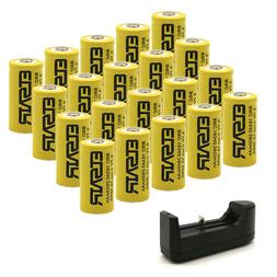 Rechargeable RCR123A Arlo Cameras Batteries,3.7V Protected 1