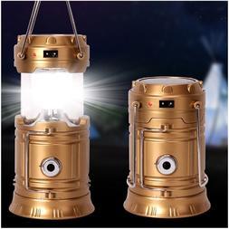 Rechargeable Solar LED Camping Lantern Handheld Flashlight O