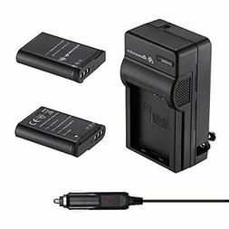 Powerextra 2 x EN-EL23 Battery & Quick Charger Compatible wi