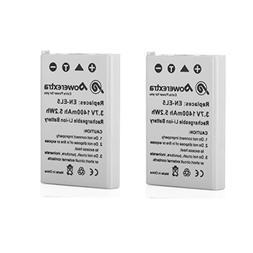 Powerextra 2 x EN-EL5 Replacement Nikon Battery Compatible w