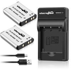 OAproda 2 Pack EN-EL19 Battery and Rapid USB Charger for Nik