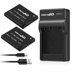 OAproda 2 Pack NB-11L/ NB-11LH Battery and USB Charger for C