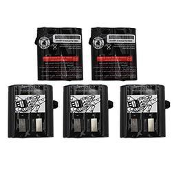 GoodQbuy 5Pcs 700mAh 3.6V Replacement NI-CD Two-Way Radio Ba