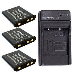 Replacement Nikon Coolpix S4000 Battery  & Charger Set for N