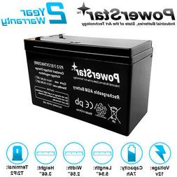 12 Volt 7 Amp-Hour Rechargeable SLA 12V 7Ah Battery fits UPS