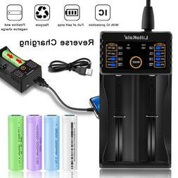smart intelligent usb 18650 battery charger rechargeable