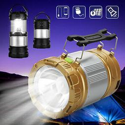 Solar Power Rechargeable Battery LED Flashlight Camping Tent