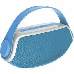 Sylvania SP233-Blue Wireless Bluetooth Portable Boombox, Blu