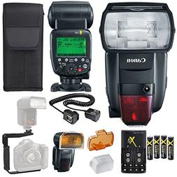 Canon Speedlite 600EX II-RT Flash + Canon Speedlite Case + 4