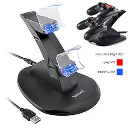 Insten Standing Dual USB Controller Charging Station Dock fo