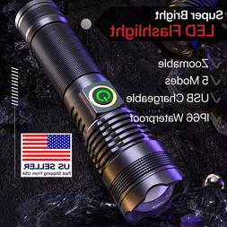 Strong Light 100000LM 70W LED Flashlight Tactical Torch XHP