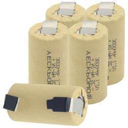 YECKPOWO SUB C battery rechargeable SC batteries subc nimh 3
