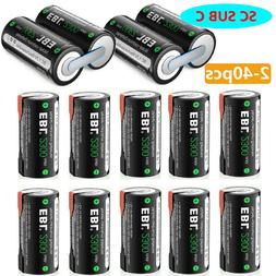 EBL Sub C SC Size NiCd Rechargeable Battery 1.2V 2300mAh & S