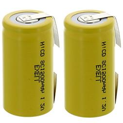 Exell SubC 1.2V 1500mAh NiCD Rechargeable Batteries with Ta