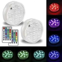 Omika Submersible LED Lights Battery Powered, Multi Color Ch