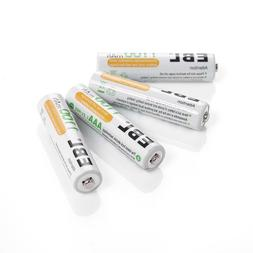 EBL 1100mAh Super Capacity AAA Rechargeable Batteries, 4 Pac