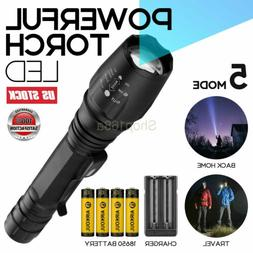 T6 Flashlight Tactical Military LED Torch 18650 Rechargeable