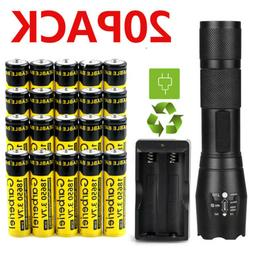 T6 LED Flashlight + 18650 Battery Li-ion 3.7V Rechargeable B