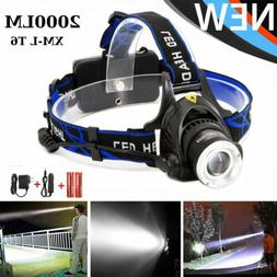T6 LED Headlamp HeadLight Rechargeable 2000LM With Charger 1