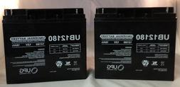 UB12180 SLA 12V 18AH T4 TERMINAL - 2 Pack