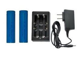 Universal Li-Ion Charger + 2-Pack 18650 3.7 Volt Lithium Ion