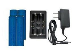 Universal Li-Ion Charger + 4-Pack 18650 3.7 Volt Lithium Ion