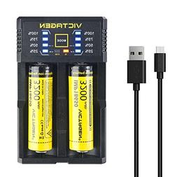 Victagen Universal Smart Charger with 18650 Lithium-ion Batt