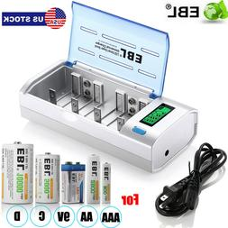 Universal LCD Smart Charger For Ni-MH Ni-CD 9V AA AAA C D Re
